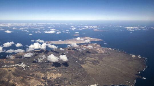 Vista aérea de Lanzarote